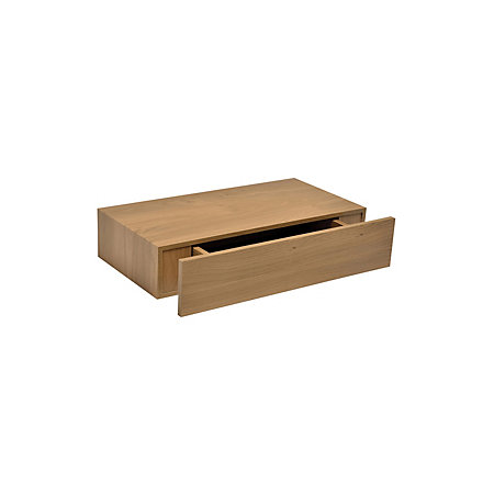 oak effect floating drawer shelf l 480mm d 250mm. Black Bedroom Furniture Sets. Home Design Ideas