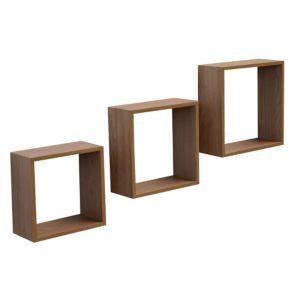 Image of Brown Matt Cube shelving (L)300mm (D)300mm Pack of 3