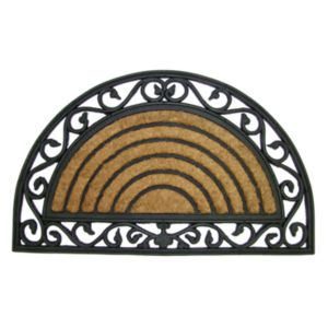 Diall Black & Natural Coir Door Mat (L)0.75m (W)450mm