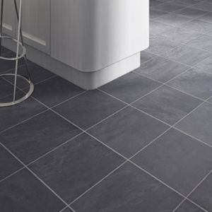 View Leggiero Grey Slate Tile Effect Laminate Flooring 1.72 m² Pack details