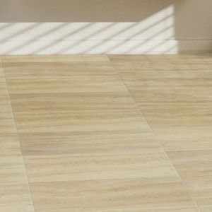View Colours Leggiero Cream Travertine Tile Effect Laminate Flooring 1.72 m² details