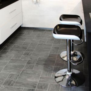 View Colours Libretto Black Slate Tile Effect Laminate Flooring 1.86m² details