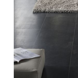 View Cresendo Black Tile Effect Laminate Flooring 1.75 m² Pack details