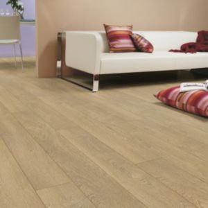 View Colours Pusilla Natural Oak Effect Laminate Flooring 1.76 sq.m Pack details