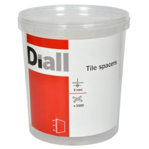 View Diall 2mm Tile Spacer, Pack of 3500 details