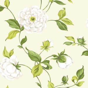 View Colours Paste The Wall Camelia Cream & Green Wallpaper details