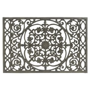 View Colours Annona Black Vine Cast Iron Door Mat (L)650mm (W)430mm details