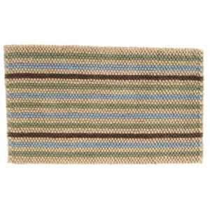 View Colours Ambarella Brown Stripe Woven Jute Door Mat (L)750mm (W)450mm details