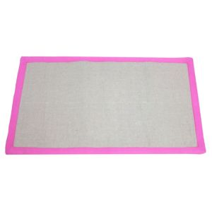 View Colours Maharaja Grey & Pink Border Rug (L)1.2m (W)600mm details