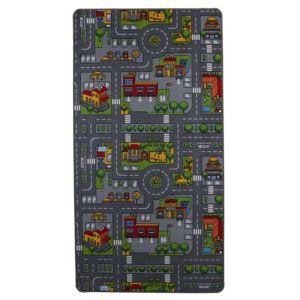 Image of Colours Danis Multicolour City road Playmat (L)1.9m (W)1 m