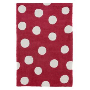 View Colours Merelda Pink & White Spot Rug (L)1.2m (W)800mm details