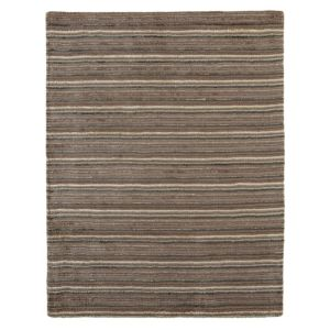 View Colours Jasola Grey & Taupe Stripe Rug (L)1.5m (W)800mm details