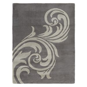 View Colours Vidya Grey Scroll Rug (L)1.6m (W)1.2m details