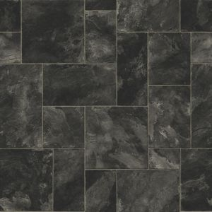 View Colours Octavina Black Slate Effect Vinyl 6m² Sheet details