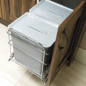 View IT Kitchens 48L Kitchen Pull Out Waste Bin details