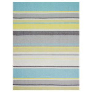 View Colours Surdas Multicolour Stripe Rug (L)1.6m (W)1.2m details