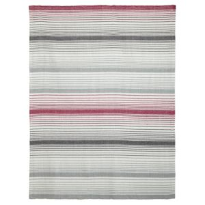 View Colours Surdas Grey & Pink Stripe Rug (L)1.6m (W)1.2m details