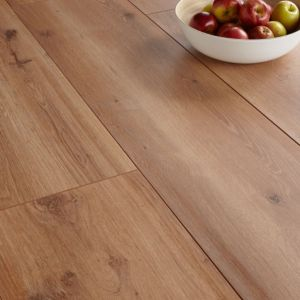 View Colours Princeps Oak Effect Wide Plank Laminate Flooring 1.45 sq.m Pack details