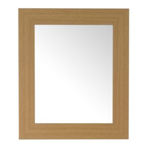 View Colours Bullnose Oak Effect Rectangular Mirror (L)660mm (W) 550mm details