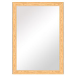 View Colours Bullnose Oak Effect Rectangular Mirror (L)1.06m (W) 760mm details