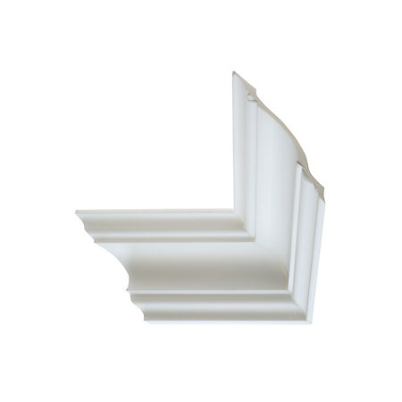 Colours traditional fluted profile polystyrene coving l for Coving corner template