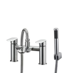 View Cooke & Lewis Saru Chrome Bath Shower Mixer Tap details