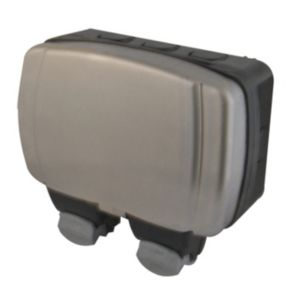 Image of Diall 13A 2 gang External RCD socket