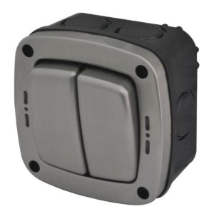 View Diall Waterproof 2-Gang 2-Way Outdoor Switch 20A details