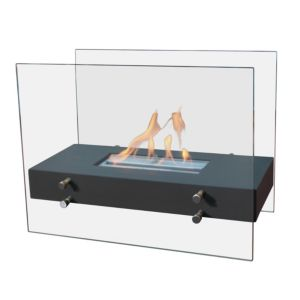 View Blyss Black Stainless Steel Effect Decorative Bioethanol Portable Fire details