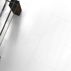 View Colours Falsetto White Tile Effect Laminate Flooring 2 m² details