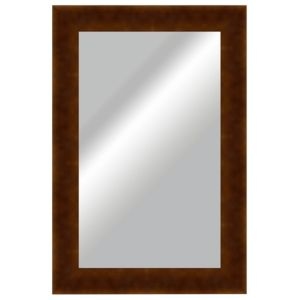 View Colours Colours Walnut Effect Framed Rectangle Wall Mirror (L)823mm (W) 800mm details
