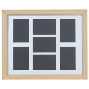 View Oak Effect Wood 7 Aperture Picture Frame (H) 52.7cm x (W)42.7cm details