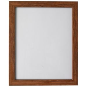 View Walnut Effect Wood Picture Frame (H) 27.7cm x (W)22.7cm details