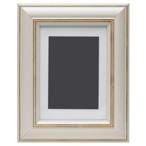 View Cream Wood Picture Frame (H) 27cm x (W)22cm details