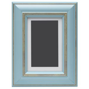 View Blue Wood Picture Frame (H) 22cm x (W)17cm details