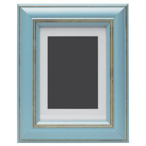 View Blue Wood Picture Frame (H) 27cm x (W)22cm details