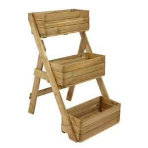 View Cascade Planter Natural Timber, (H)1210mm details