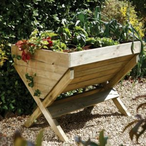View Wooden Natural Timber Garden Trough (H)838mm details