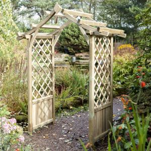 View Elegant Wooden Apex Arch - Assembly Required details