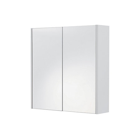 Cooke & Lewis Tobique Double Door White Mirror Cabinet ...