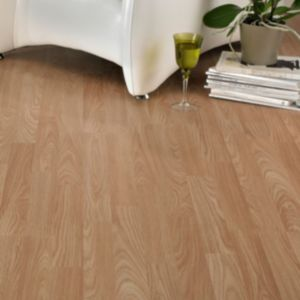 View B&Q Oak Effect 3 Strip Laminate Flooring 3 m² details