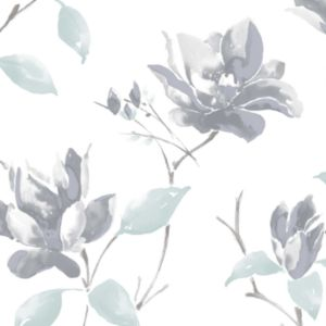 View Colours Paste The Wall Ava Grey, Pale Green & White Wallpaper details