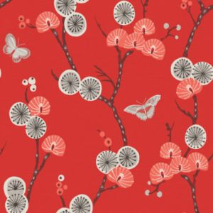 View Matilda Grey & Red Wallpaper details