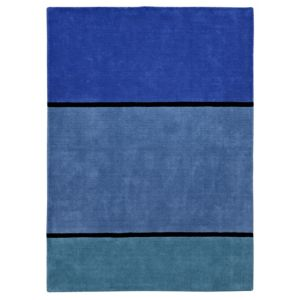 View Colours Casper Blue Stripe Rug (L)1.7m (W)1.2m details