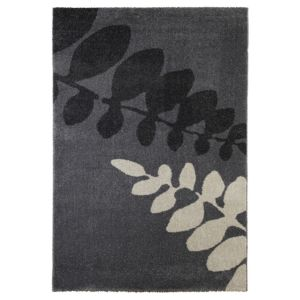 View Colours Flossie Cream & Grey Fern Leaf Rug (L)2.3m (W)1.6m details