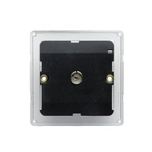 Colours Flat Screwed Screwed Metal Single Coaxial Socket Backplate