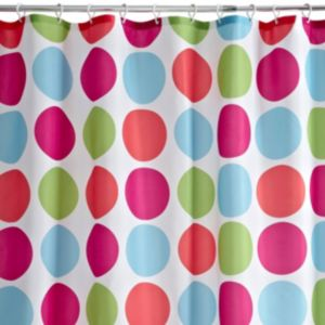 View Cooke & Lewis Multicolour Aponi Spot Shower Curtain details