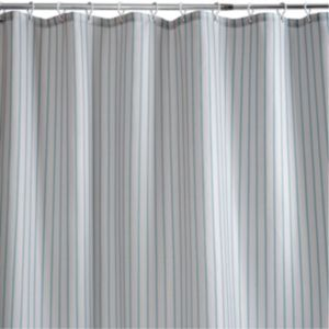 View Cooke & Lewis Blue Acteon Stripe Shower Curtain details