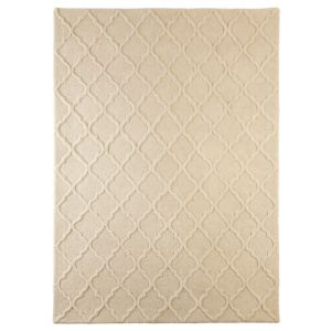 View Colours Edna Cream Lattice Rug (L)1.7m (W)1.2m details