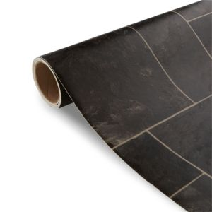 View Colours Octavina Black Tile Effect Vinyl 4m² Sheet details